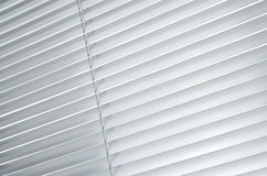 Closed metallic blinds Royalty Free Stock Images