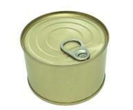 Closed metallic tin Royalty Free Stock Photo