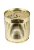 Closed metallic tin Stock Image