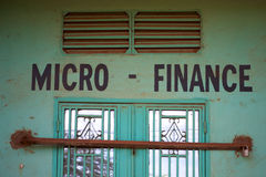 Closed micro finance office Stock Photography