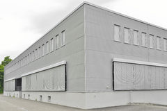 Closed modern commercial building facility Stock Image