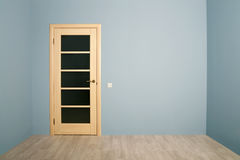 Closed Modern wooden Door Stock Images