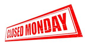 Closed monday. Stamp with text closed monday inside,  illustration Stock Photos
