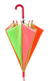 Closed multi-colored umbrella Royalty Free Stock Photography