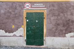 Closed National Tobacco Shop in Hungary Royalty Free Stock Photo