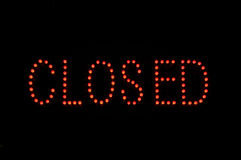 Closed Neon Sign Royalty Free Stock Image
