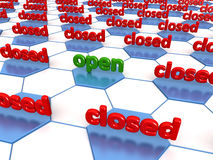 Closed Network Stock Photo