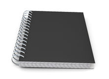 Closed notebook in a black cover with spring Stock Image