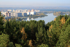 The closed (nuclear) city in Siberia - Zelenogorsk Royalty Free Stock Photos