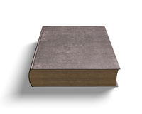 Closed old book, 3D illustration Royalty Free Stock Photo