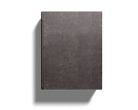 Closed old book, 3D illustration. Dark old book, isolated on white background, 3D illustration Royalty Free Stock Photo
