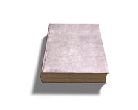 Closed old book, 3D illustration. Closed old book, isolated on white background, 3D illustration Royalty Free Stock Photography