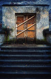 Closed Old Building and Stairs Stock Image