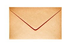 Closed old paper envelope Royalty Free Stock Image