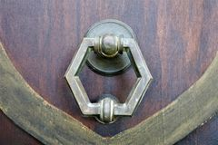 Old wooden doors with ring stock images