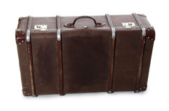 Closed old suitcase Stock Images