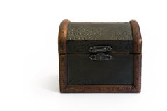 Closed old treasure chest Royalty Free Stock Photo