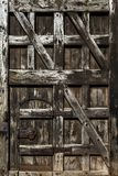 Closed old vintage wooden door royalty free stock images