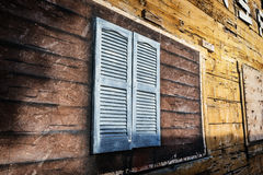Closed old window. In rustic style, horizontal composition, USA Stock Photo