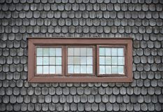 Closed old windows on wooden tile Stock Photos