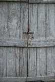 Closed old wooden door Stock Photo