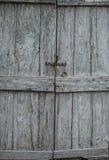 Closed old wooden door Stock Photo
