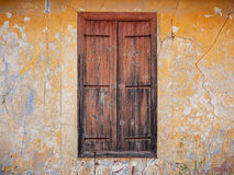 Closed old wooden window shutters. Royalty Free Stock Photography