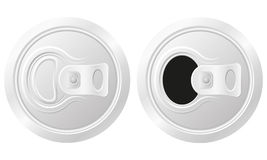Closed and open can of beer vector illustration. Isolated on white background Royalty Free Stock Images