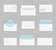 Closed and open envelopes vector set Stock Photo