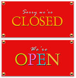 Closed & open tag Stock Image