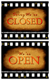 Closed & open tag Royalty Free Stock Image