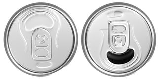 Closed and opened cans Stock Image