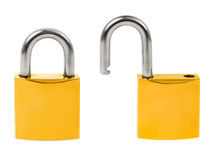 Closed and opened locks Royalty Free Stock Photos