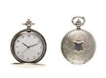 Closed and opened pocket watch Stock Image
