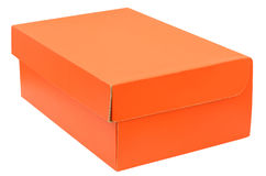 Closed orange box Royalty Free Stock Images