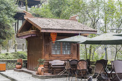 Closed outdoor teahouse Royalty Free Stock Photo