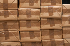 Closed packages for shipping Royalty Free Stock Photos