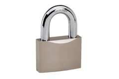 Closed padlock Stock Images