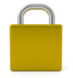 Closed padlock isolated on white Stock Photography