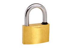 Closed padlock isolated on white Royalty Free Stock Photos