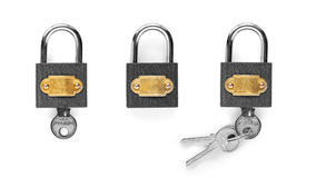 Closed padlock Royalty Free Stock Photos