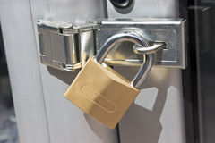Closed padlock Stock Photo