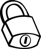 Closed padlock vector illustration Stock Image