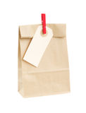 Closed paper bag Royalty Free Stock Images