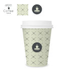 Closed paper cup for coffee with texture. Royalty Free Stock Photo