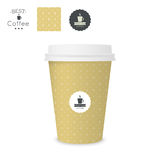 Closed paper cup for coffee with texture. Stock Images
