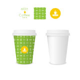 Closed paper cup for coffee with texture Stock Images