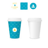 Closed paper cup for coffee with texture Royalty Free Stock Photos