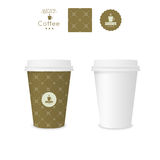 Closed paper cup for coffee with texture Stock Photos