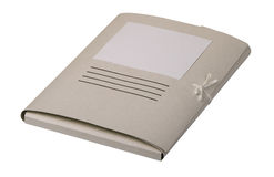Closed paper folder for documents Stock Photo